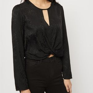 NWT Dynamite Blouse with twist in the front